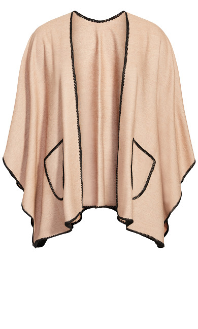 Deep Pocket Ruana - taupe