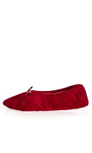Ballerina Slipper - burgundy