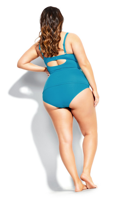 Rhodes Underwire Tankini Top - turquoise