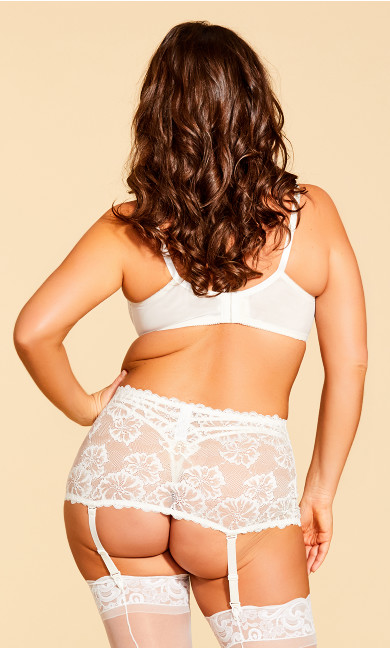 Eve Lace Garter Belt - Ivory