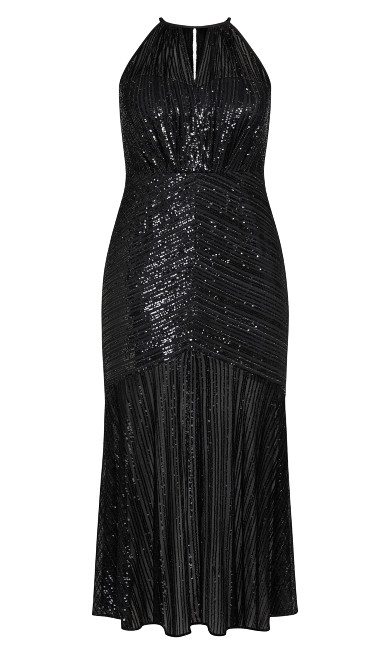 Brilliance Maxi Dress - black