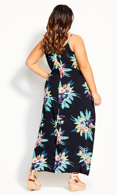 Elba V Neck Maxi Dress - black