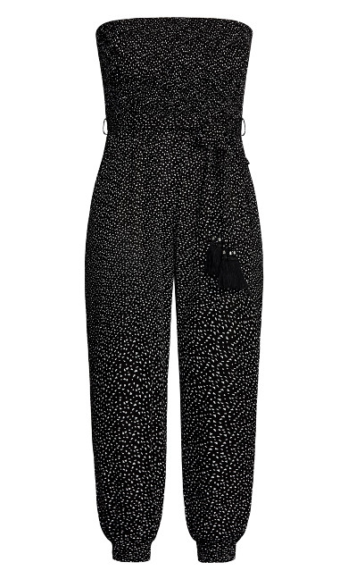 Confetti Jumpsuit - black