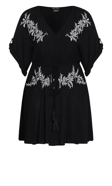 Embroidery Allure Tunic - black