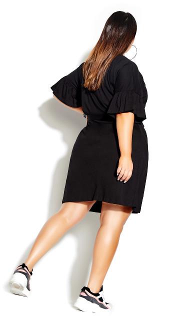 Urban Frill Dress - black
