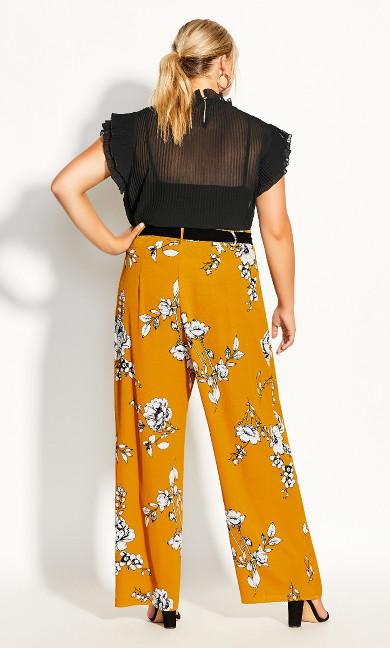 Serene Floral Pant - gold