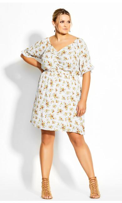 Amber Ditsy Dress - ivory