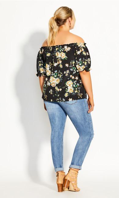 Heirloom Floral Top - black