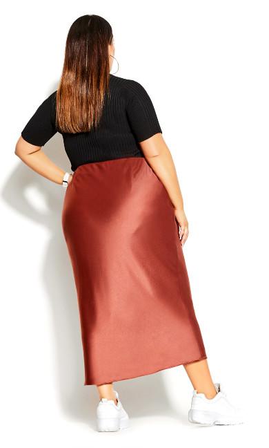Satin Maxi Skirt - Toffee