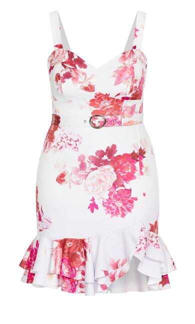 Sakura Floral Dress - ivory