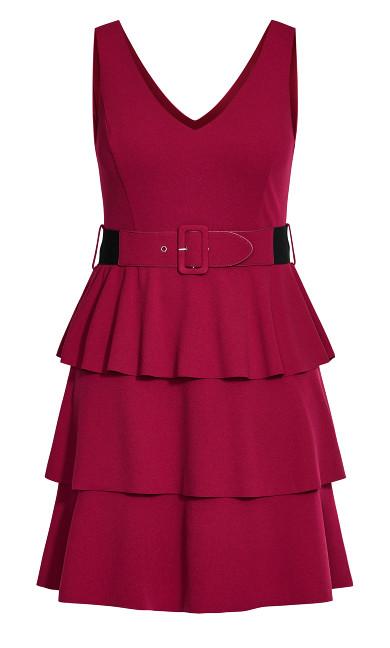 Sweet Essence Dress - raspberry