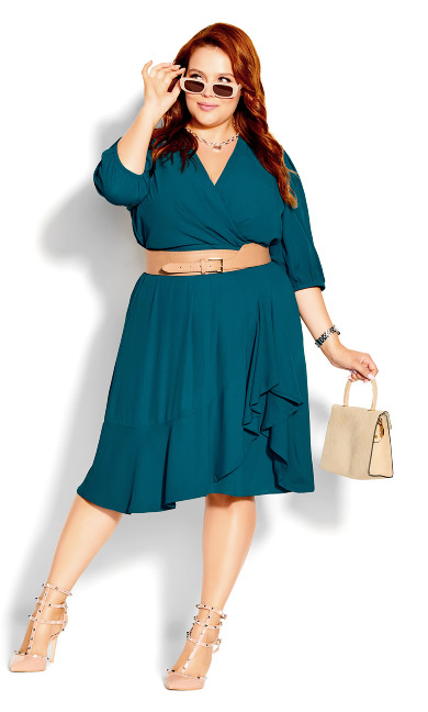 Plus Size Captivate Dress - teal