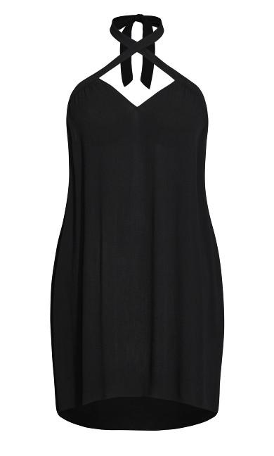 X Front Dress - black