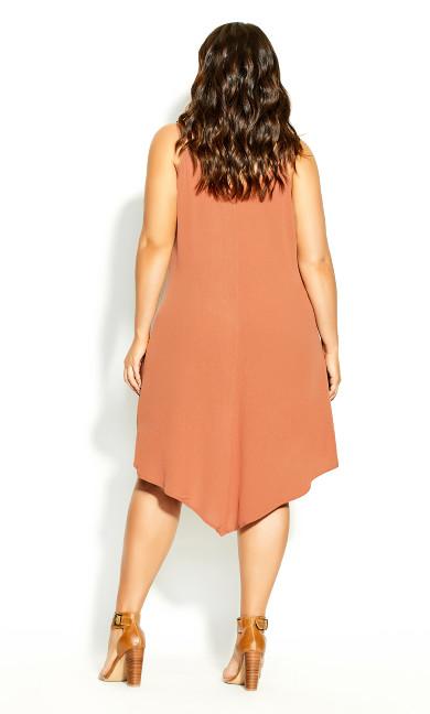 Summer V Dress - tawny