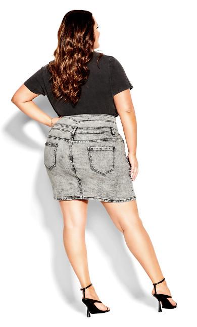 Retro Mini Skirt - black