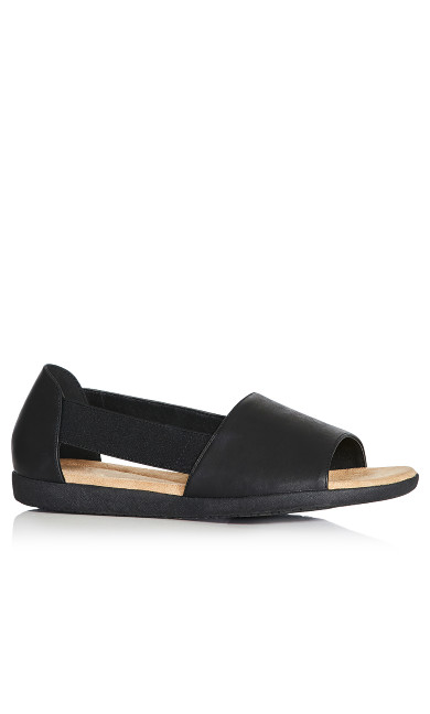 Plus Size Peyton Sandal - black
