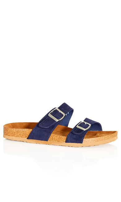 Plus Size Nelly Sandal - navy