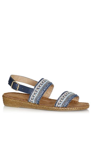 Plus Size Leslie Sandal - blue