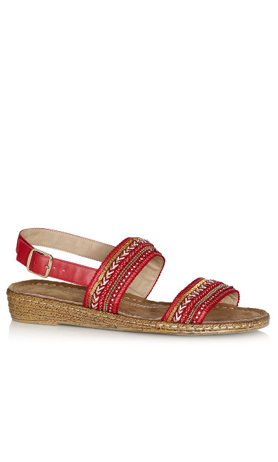 Plus Size Leslie Sandal - red