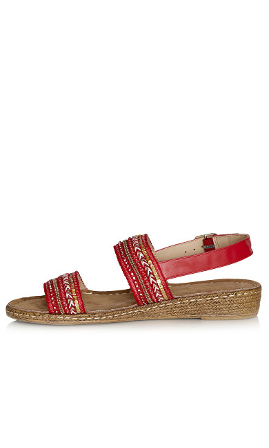 Leslie Sandal - red