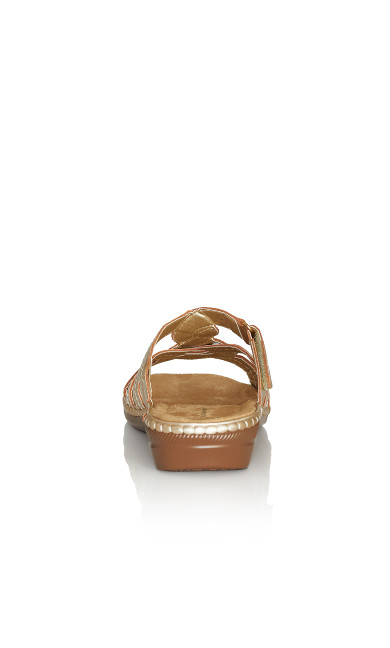 Marin Stitch Slide - gold