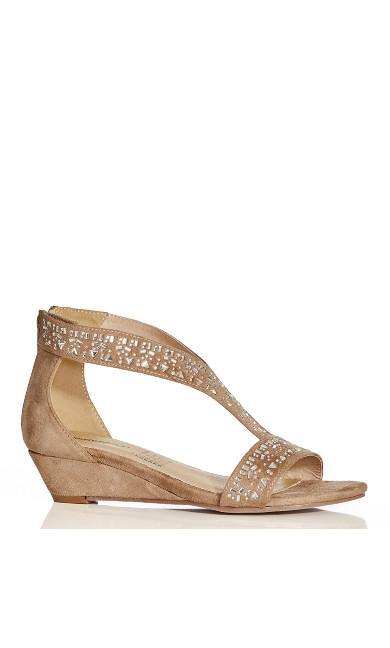 Holly Embellished Sandal - natural