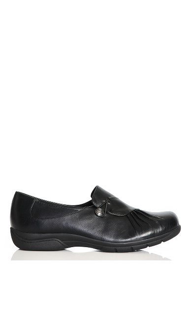 Plus Size Chloe Pleat Slip On - black