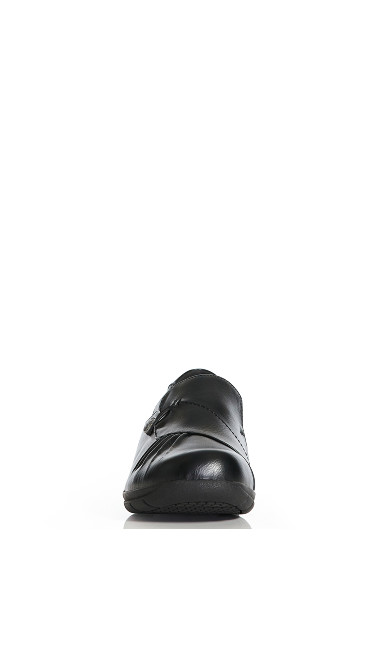 Chloe Pleat Slip On - black