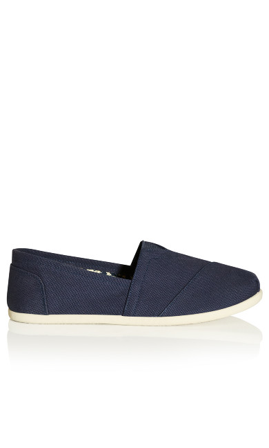 Plus Size Reagan Wide Width Slip On Navy Shoe