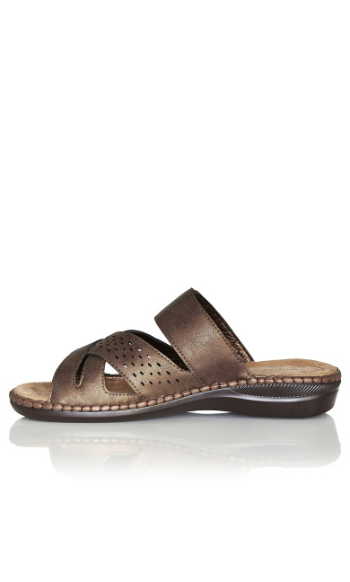 Kate Buckle Slip On - bronze