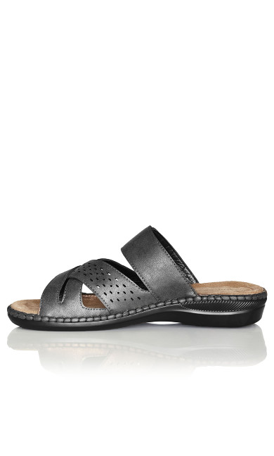 Kate Buckle Slip On - pewter