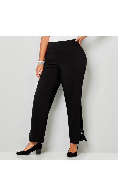 Super Stretch Velvet Lace Up Pull-on Pant
