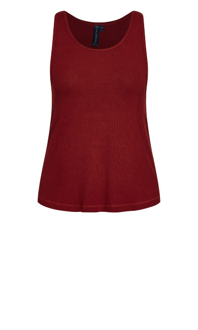 Lounge Swing Tank Top - pomegranate