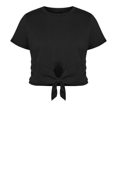 Lounge Crop Tee - black