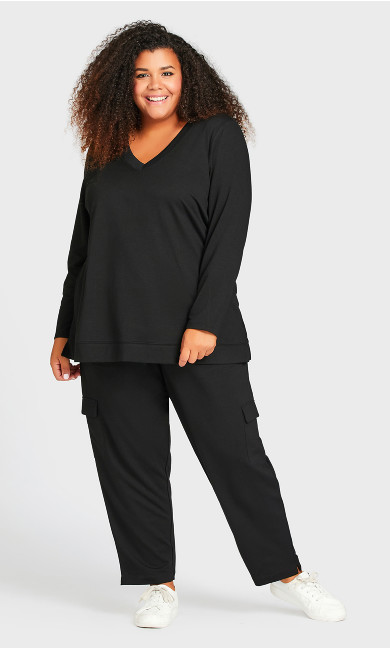 Plus Size Lounge Pant Black - average