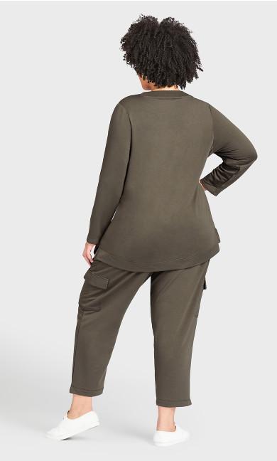 Lounge Pant Khaki - average