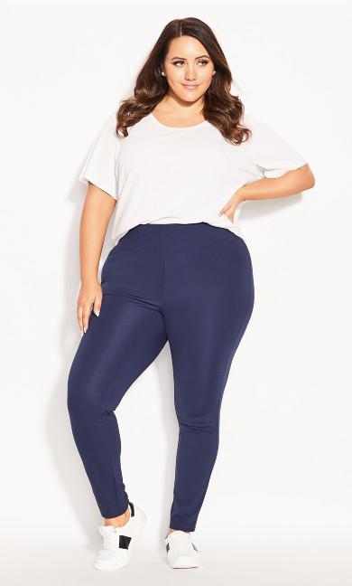 Plus Size Ponte Pull-On Pant Navy - average