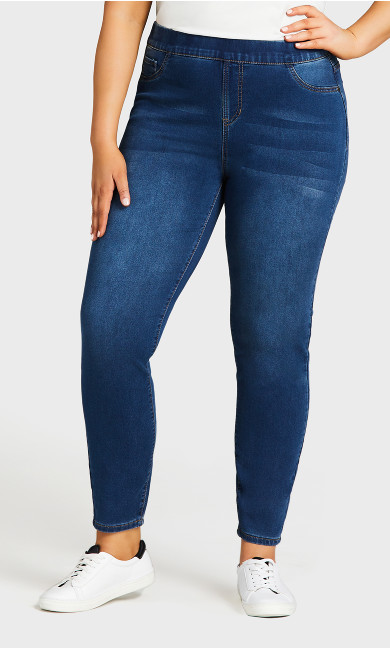 Jegging Hi Rise Mid Wash - tall