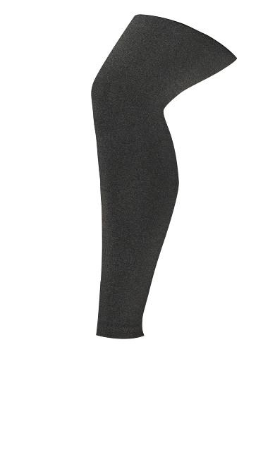 Plush Lined Footless Leggings - gray