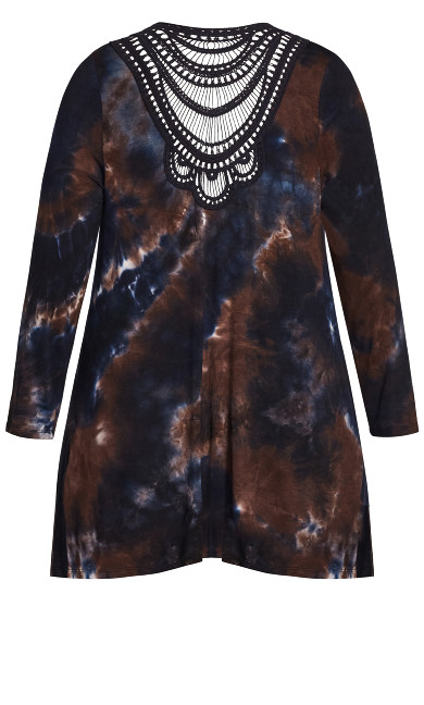 Tie Dye Cage Cardigan - midnight