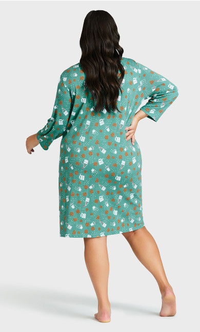 Tea Sleep Shirt - teal