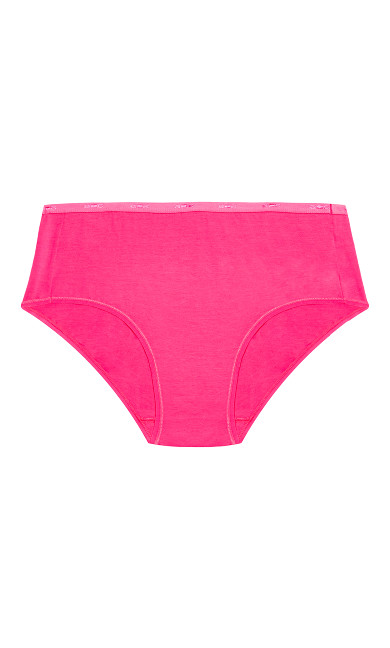 Fashion Cotton Full Brief - hot pink