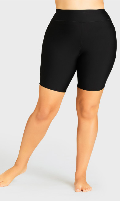 High Waist Swim Short - black