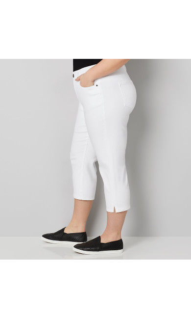 Ultimate Fit Capri Jean in White
