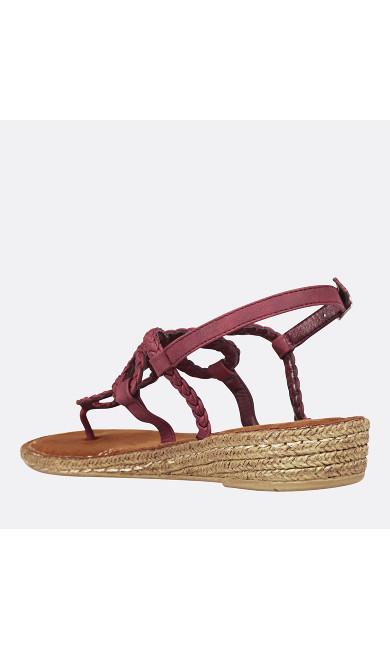 Nova Braided Demi Wedge Thong Sandal