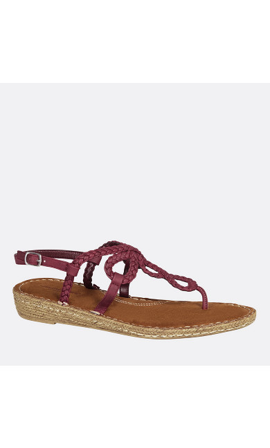 Nova Braided Demi Wedge Thong Sandal