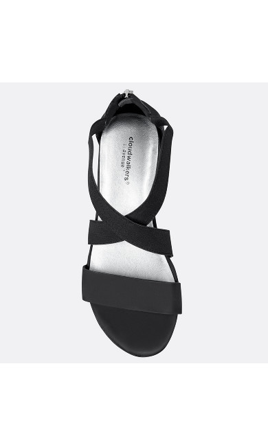 Brynn Stretch Criss Cross Wedge Sandal