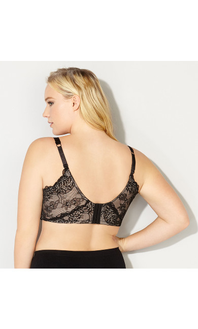 Lace Back Smoother Underwire Bra