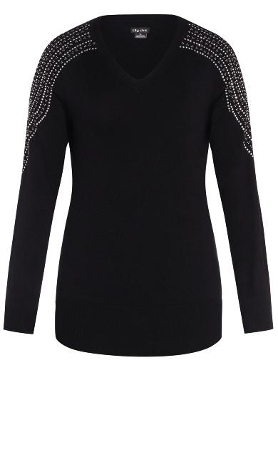 Shoulder Dream Sweater - black