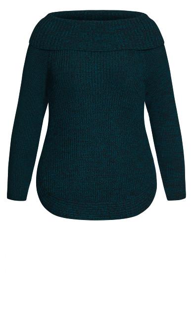 Scoop Me Up Sweater - jade